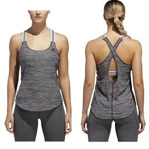 Adidas Performer 3-Stripes X Back Tank Top Medium